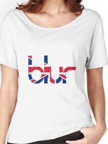 Blur - British Flag Women's Relaxed Fit T-Shirt