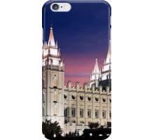 Salt Lake Temple Summer Sunset 20x24 iPhone Case/Skin