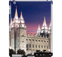 Salt Lake Temple Summer Sunset 20x24 iPad Case/Skin