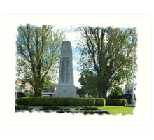 City Of Williamstown - Cenotaph on Strand, Vic. Art Print