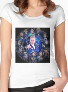 Doctor who (all 13 doctors) Women's Fitted Scoop T-Shirt