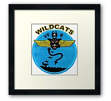 VF-8 Wildcats Patch Framed Print
