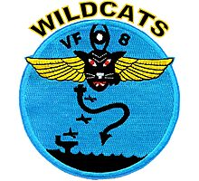 VF-8 Wildcats Patch Photographic Print