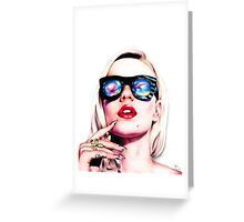 Iggy Azalea Portrait Greeting Card