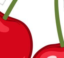 Red cherries sticker Sticker