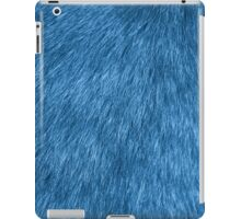 Fluffy Fur, Fur Texture, Pelage - Blue iPad Case/Skin