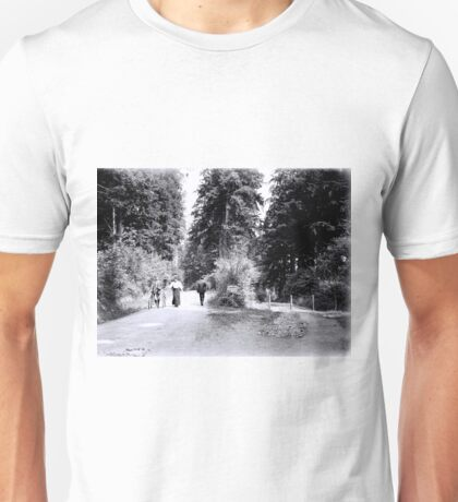 Cyclists in Stanley Park Unisex T-Shirt