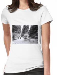 Cyclists in Stanley Park Womens Fitted T-Shirt