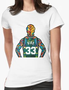 Larry Bird - Stained Glass Womens Fitted T-Shirt