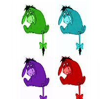 Eeyore is blue, and green, and red and purple by MeganHilleard