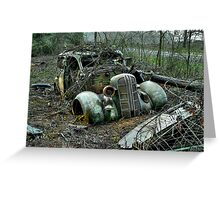 Free Parking ~ Old Cars ~ Greeting Card