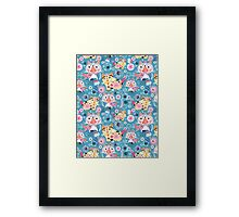 Beautiful ornamental pattern with cats Framed Print