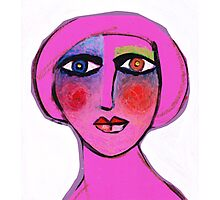 Painted face Diva  Photographic Print
