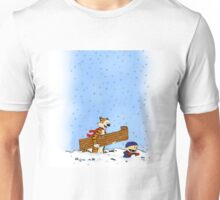 calvin and hobbes christmas snowy Unisex T-Shirt