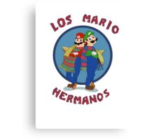 Los Mario Hermanos Canvas Print