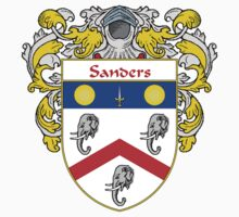 Sanders Coat of Arms / Sanders Family Crest by William Martin