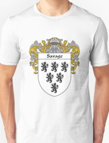 Savage Coat of Arms / Savage Family Crest T-Shirt