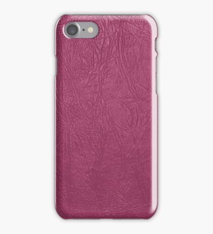 Leather Texture, Leather Background - Pink iPhone Case/Skin