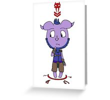 Riki - A Slight Spot of Bother Greeting Card