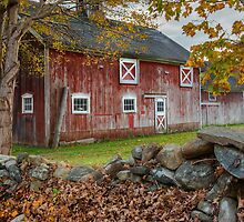 New England Barn  by Bill Wakeley