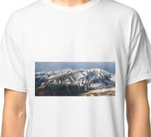 Panorama of mountain range in the spring Classic T-Shirt