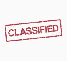 Classified red grunge stamp sticker by Mhea
