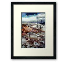 Waterfalls At Yellowstone Framed Print