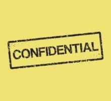 Confidential black grunge stamp, tilted Kids Clothes