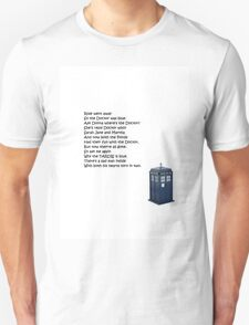 Doctor Who Poem T-Shirt