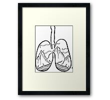 righteous lungs Framed Print