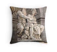 Vienna Austria, Neptune Fountain Throw Pillow