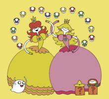 Peach and Daisy Adventures Kids Tee