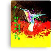 digital hummingbird & (germany Flag) Canvas Print