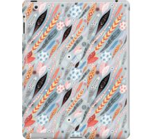 Abstract graphic pattern of leaves iPad Case/Skin