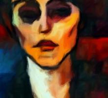 portrait of maude abrantesc Sticker