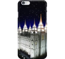 Salt Lake Temple Starry Night 20x30 iPhone Case/Skin