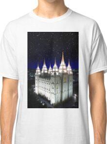Salt Lake Temple Starry Night 20x30 Classic T-Shirt