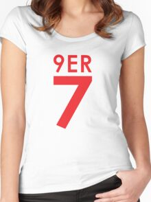 """9ER 7"" - A tribute to QB #7 Colin Kaepernick of the San Francisco 49ers Women's Fitted Scoop T-Shirt"