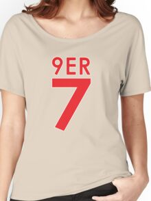 """""""9ER 7"""" - A tribute to QB #7 Colin Kaepernick of the San Francisco 49ers Women's Relaxed Fit T-Shirt"""