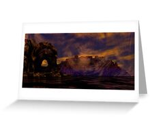 Burial Valley of the Red Wind Greeting Card