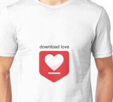 Download love Unisex T-Shirt