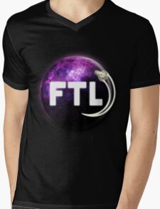 Faster Than Light. Mens V-Neck T-Shirt