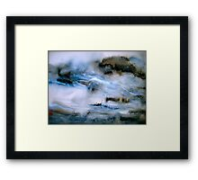 Cold Mountain River... Framed Print