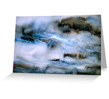 Cold Mountain River... Greeting Card