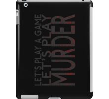 Let's Play Murder iPad Case/Skin