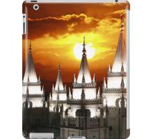 Salt Lake Temple Sunset Spires 20x30 iPad Case/Skin