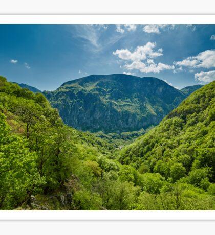 Mountain landscape on springtime Sticker