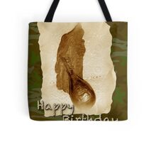 Happy Birthday Greeting Card - Antique Leather Powder Flask Tote Bag