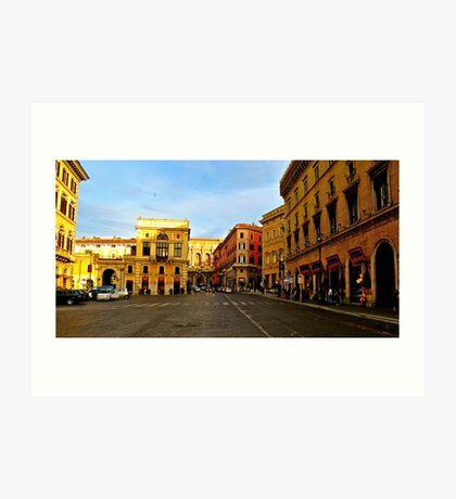 Rome at a Crosswalk Art Print