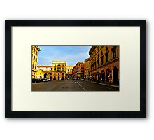 Rome at a Crosswalk Framed Print